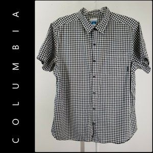 Columbia Men Button Front Plaid & Check Shirt 2XL